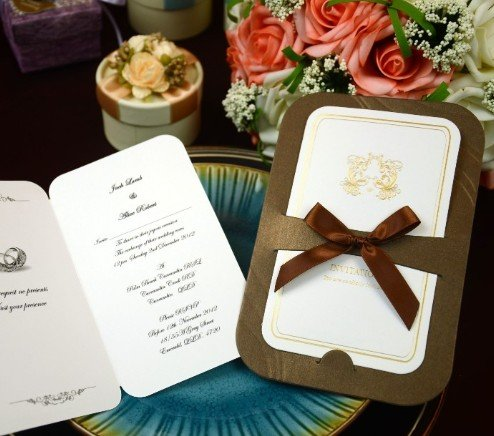 Luxury Wedding Cards Invitations Bh1013d Include Envelope Customised Printing