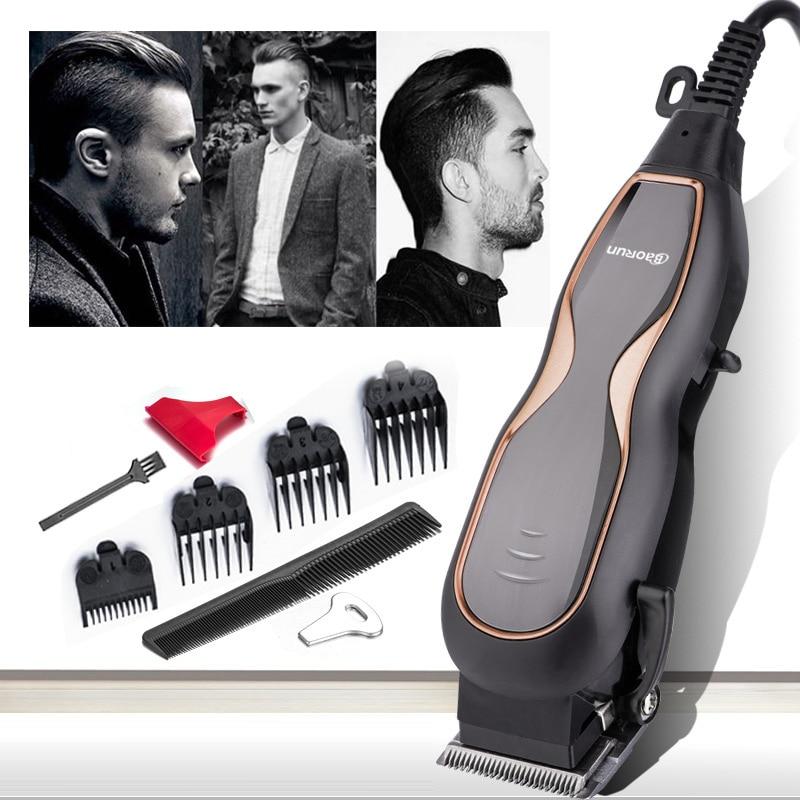 BaoRun Professional Hair Clippers Mute Ultra Power Electric Hair Trimmer Barber Salon Men Hair Cutting Machine With Cord 220V