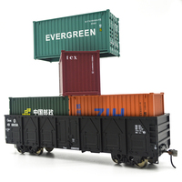 Modello 1:87 HO Container Carriage China Train Model scale C64K Gondola 20ft