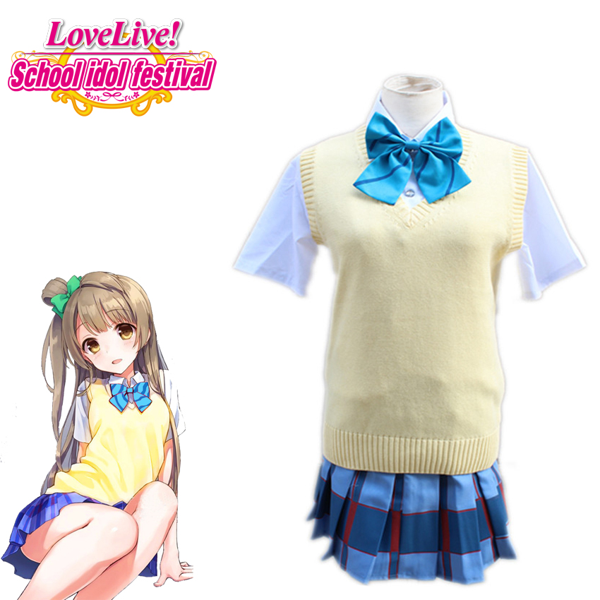 Lovelive! Mnami Kotori Cosplay Japanese Anime Costume Cosplay Unisex Daily Sweater School Uniform Costume