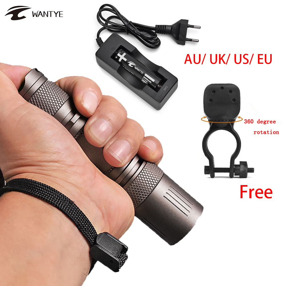 Waterproof LED flashlight 18650 XML L2 Flashlight Bicycle Light 3800 LM Outdoor Hunting LED Torch Light 5 Mode LED Bike Light 6000lumens bike bicycle light cree xml t6 led flashlight torch mount holder warning rear flash light