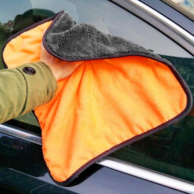 38*40cm Car Care Towel Wax Polishing Towels Car Washing Cleaning Drying Towel Super Thick Plush Microfiber Car Cleaning Cloth A1