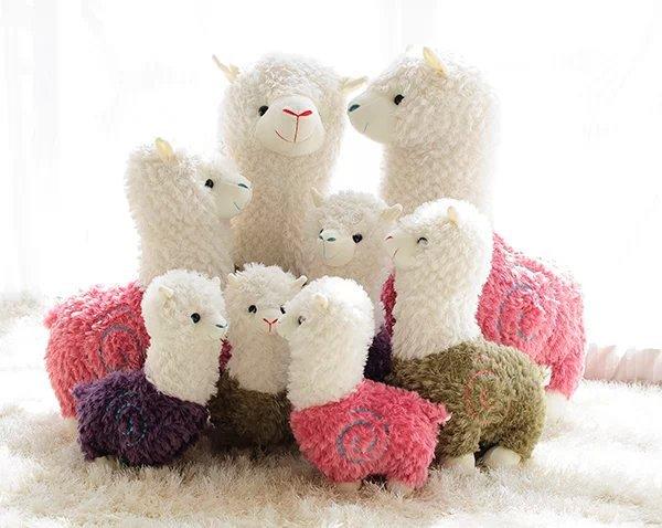 Newest 20cm Alpaca Plush Doll Toy Lovely Small Sheep Stuffed Animal Plush Llama Yamma Children Birthday New Year Christmas Gift