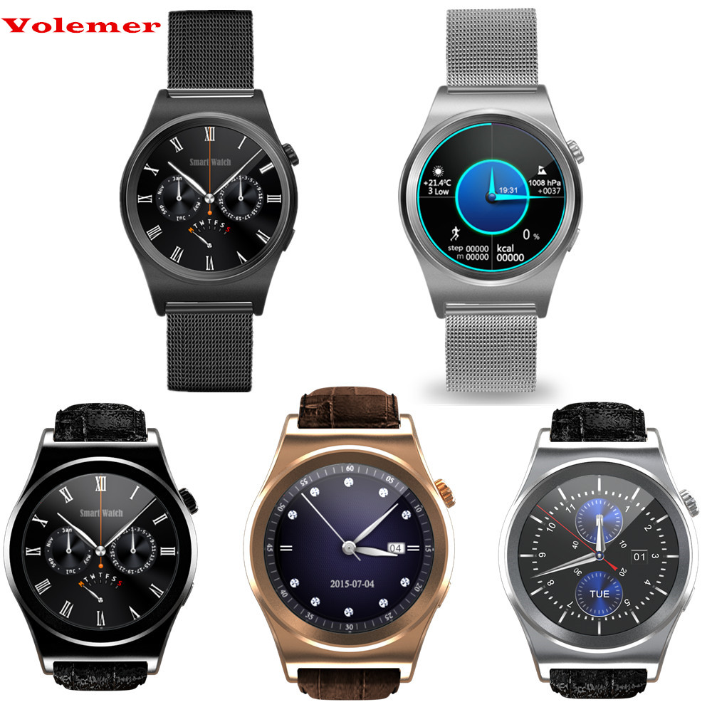 все цены на Volemer Bluetooth Smart Watch X10 Full circle display 1.3 HD LCD Screen MTK2502C Heart Rate business functions For Android IOS онлайн