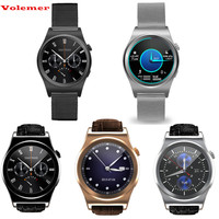 Volemer Bluetooth Smart Watch X10 Full circle display 1.3 HD LCD Screen MTK2502C Heart Rate business functions For Android IOS
