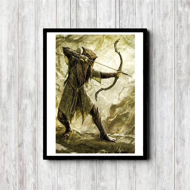 Ev Ve Bahce Ten Resim Ve Hat De Yuzuklerin Efendisi Mirkwood Elf