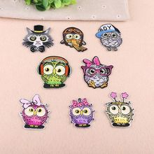 High-end embroidery cloth stickers clothes decoration patch cartoon cute small animal birds embroidered