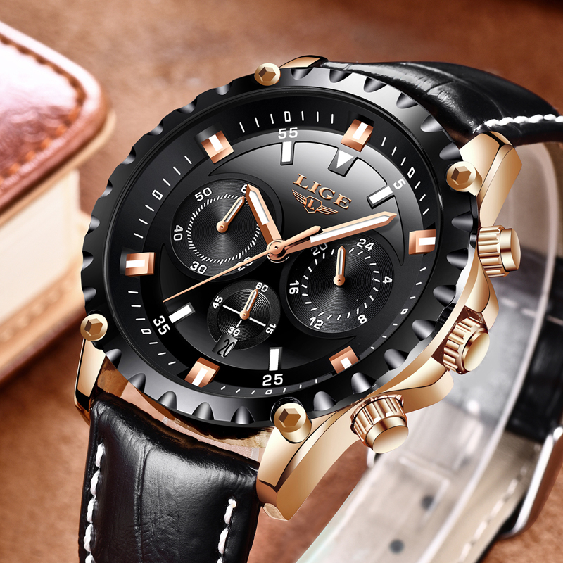 Men's Watch LIGE Top Brand Luxury Sports Watch with Chronograph 1