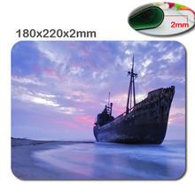 DIY The ship at sea 180mmx220mmx2mm Custom 3D print Gaming Mouse Mat High Quality Durable Fashion Computer and Laptop Mouse Pad