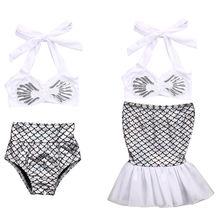 Kids Girls Mermaid Tail Bikini Trendy Lovely Cute  Swimsuit Swimwear Outfits Bathing Suit Costume