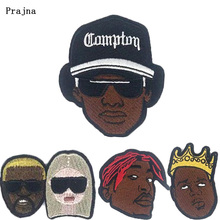 Prajna Hip Hop Patches Embroidered Hippie Patch for Clothing DIY Iron on Applique to Cloth Rock Indian Negro Badge Accessory F