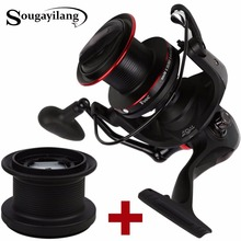 Sougayilang Super Big Spinning Reel with Spare Spool Full Metal Wheel 13+1BB 10000 Series Spin Fishing Coil Wheel Vara De Pesca