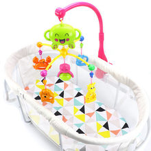 Baby Crib Toy 0-12 Months For Newborn Mobile Musical Box Bed Bell With Animal Rattles Early Learning Kids Educational Toys 2019(China)