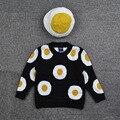 Suéteres e pulôveres 2016 plus size blusas de manga longa crianças para XXL outono camisolas dos miúdos meninas do bebê preto frete grátis ovo