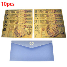 10pcs Colorful 500 Poland Currency Gold foil Banknote colored 24K gold Bill PLN