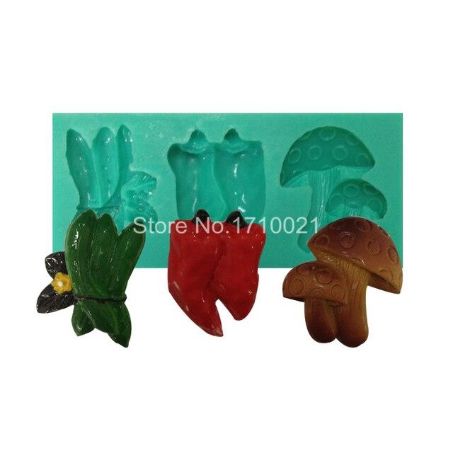 US $5 75 |Hot DIY 3D Cucumber Pepper Mushroom Chocolate Cake Silicone  Moulds Ice Sugar Fondant Jello Soap Molds Kitchen Baking F1829 on  Aliexpress com
