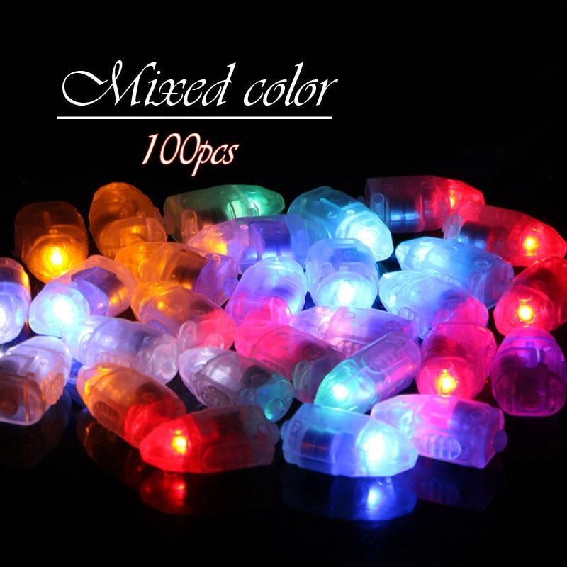 Dikale 100pcs Lots of new LED balloon light switch bullets colorful bulbs paper lanterns lights holiday lights in Holiday Lighting from Lights Lighting