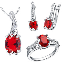 NEW set 925 Sterling Silver custom made pendant ring set with micro insert set of