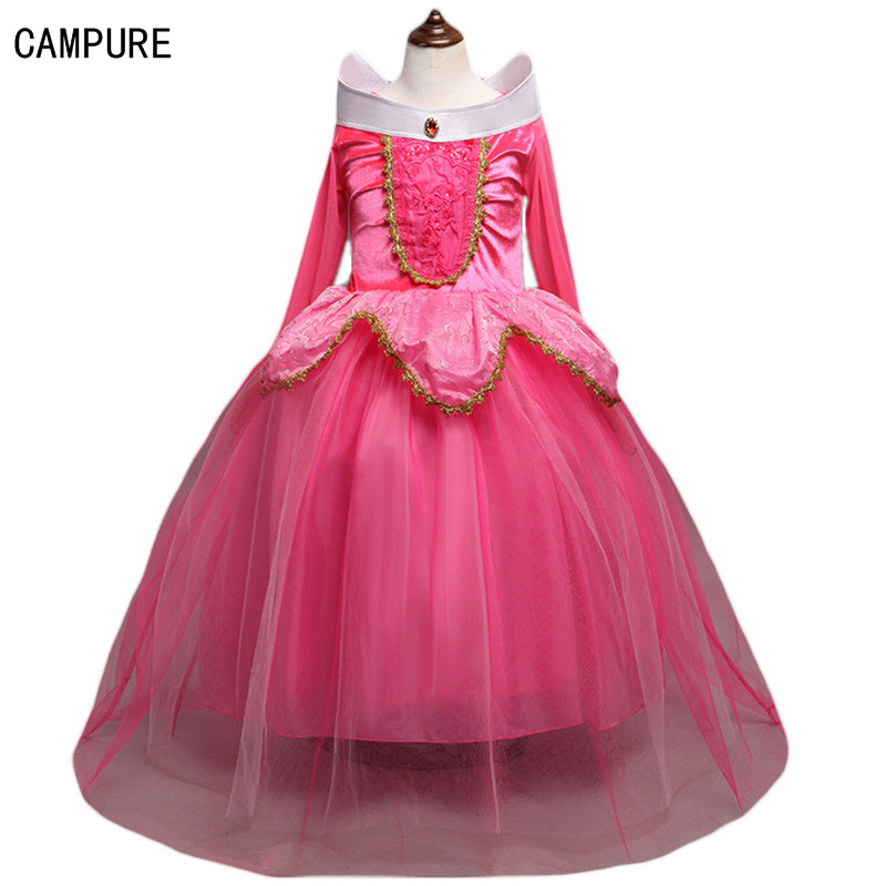 Costume for Girls christmas Halloween Costume for Kids high-grade Evening Dress Princess Belle Dress for Party Long Dress