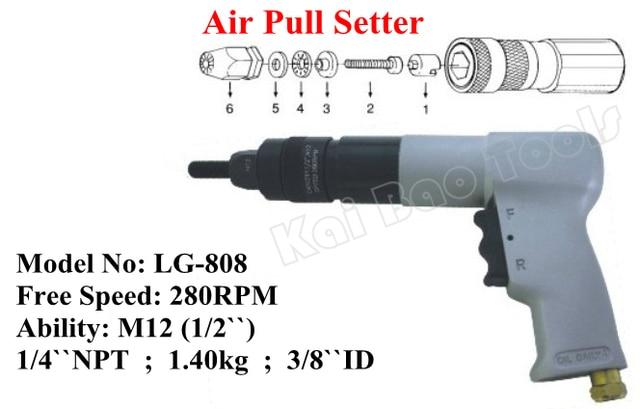 US $264 0 |Air Pull Setter Pneumatic Puller Air Huckbolt Setting Riveter  Air Rivet Nut Gun Machine for M10 M12 1/2`` Heavy Duty (LG808)-in Pneumatic