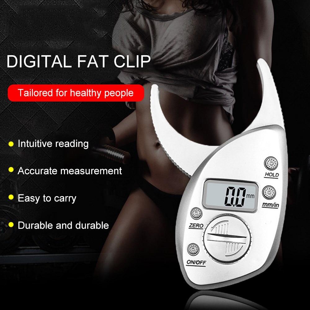 Body Fat Plicometer Caliper Analyzer Monitors Electronic Digital Body Fat Caliper Skin Muscle Tester Body Fat Monitor 0 50mm|Calipers| |  - title=