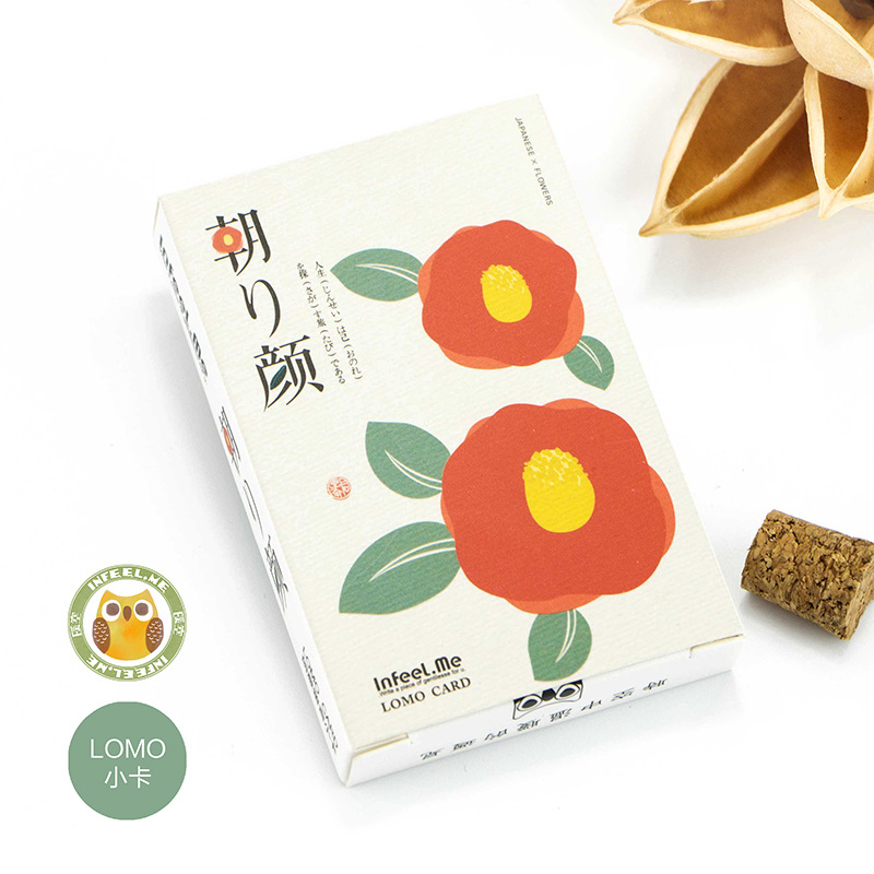 28 Cards/ Lot Flowers  LOMO Card  52*80mm Small Gift Card Mini Bookmark Message Cards 350G Paper High Quality