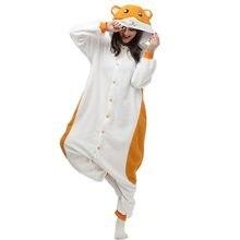 HKSNG хомяк хамтаро пижамы животных зима для женщин Комбинезоны для  взрослых Kigurumi косплэй с капюшоном домашняя bf10a834dd566
