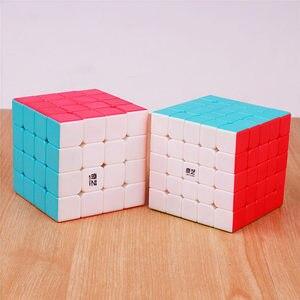 Image 4 - QIYI warrior 3x3x3 4x4x4 5x5x5 Magic Cubes Children Toys Speed Puzzles Cube Learning sticker less Magico Toys pocket Cube 2x2x2