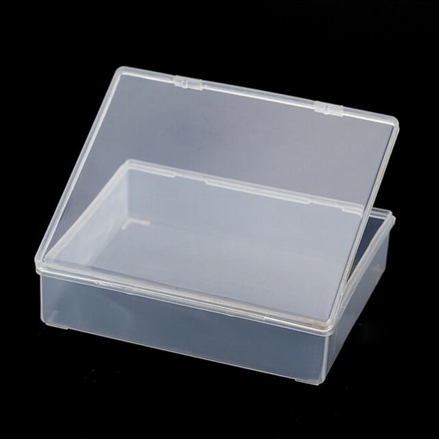 1PC Parts box collapsible rectangle Plastic Boxes Transparent