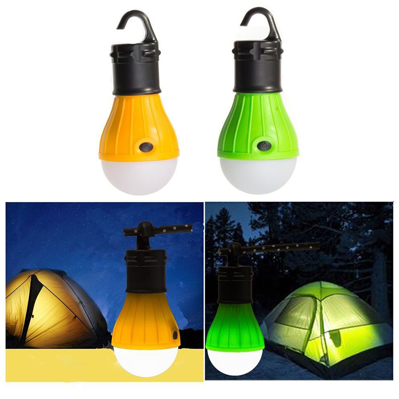 Portable Emergency Camping Tent Soft Light Outdoor Hanging SOS 3 LED Lanters Bulb Fishing Lantern Hiking Energy Saving Lamp