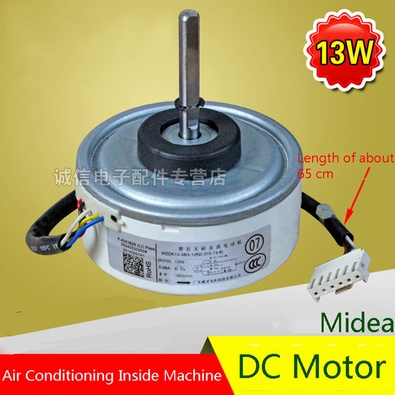 Original For Midea 13W Air Conditioning Fan DC Motor Air Conditioning Parts 95% new original for midea air conditioning fan motor ydk36 4c a ydk36 4g 8 4g 8 36w direction of departure