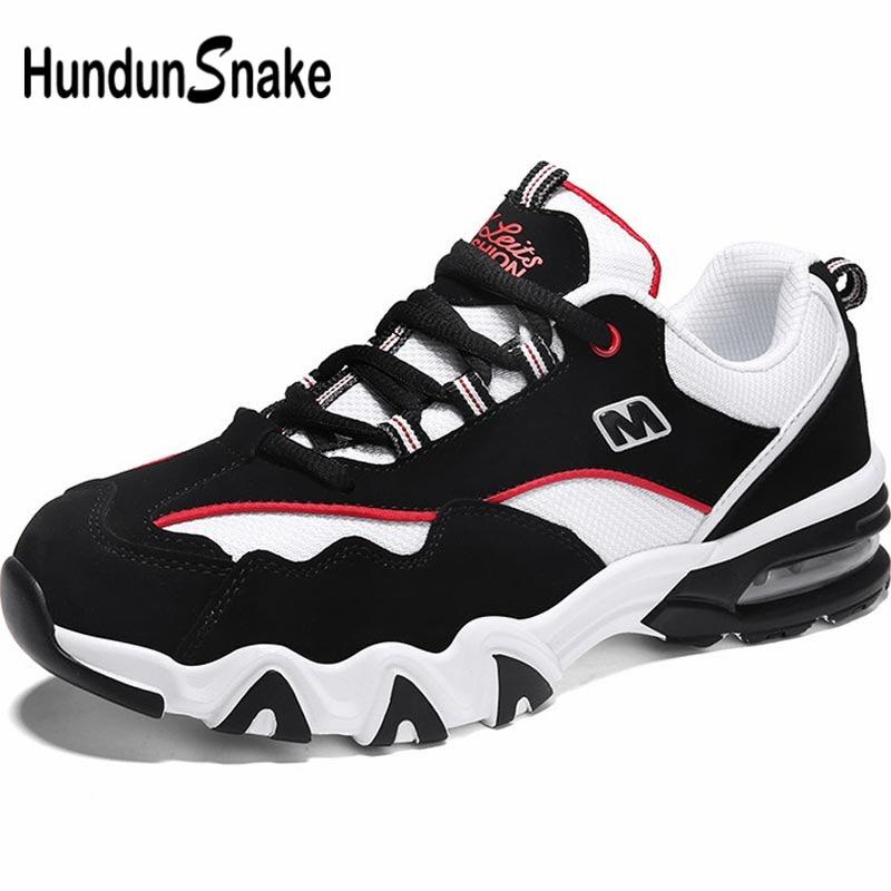 Hundunsnake Outdoor Men Running Shoes Sports Men's Sport Shoes Men Sneakers Summer Air Shoes Black Trainers Walk Footwear B-035