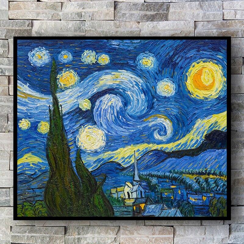 Van Gogh starry night DIY 5D diamond painting full square embroidery sale pictures of rhinestones Diamond Mosaic