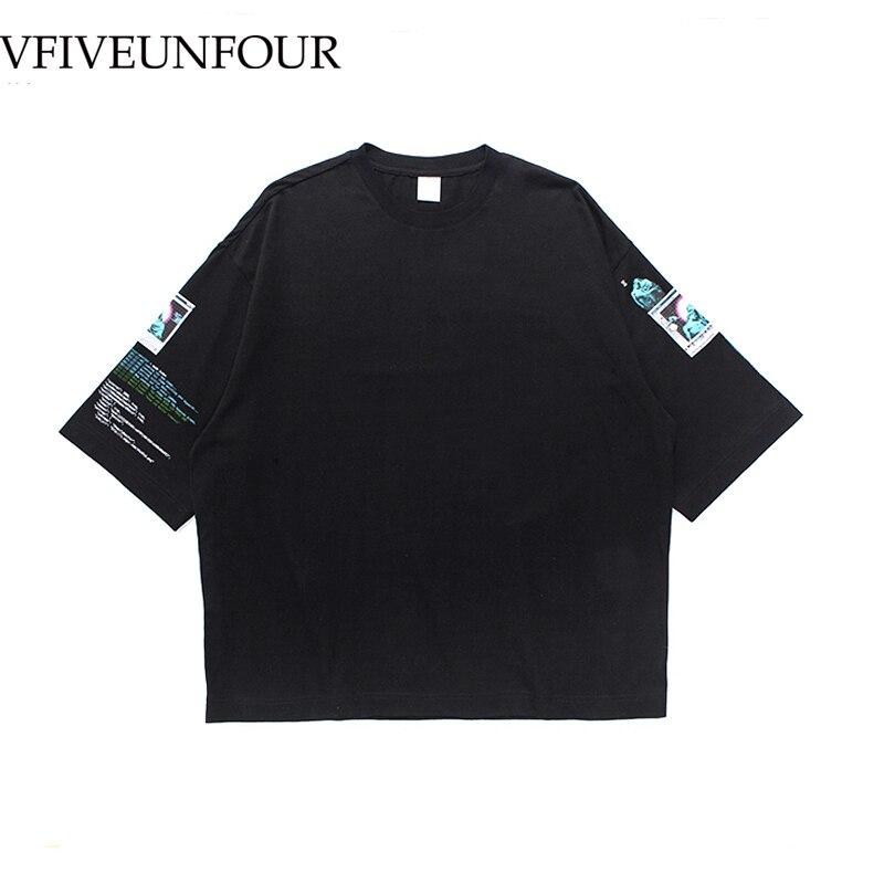 VFIVEUNFOUR Print 2019 New Arrival Summer men O-neck cotton t-shirt short sleeve Oversize loose Hipster T Shirts loose TEE