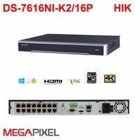 видеонаблюдение видеонаблюдение видеокамера видеорегистратор 16 канальный NVR Hikvision DS 7616NI K2/16P c питанием камер по Ethernet до 300 м 8mp