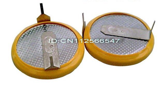 Free shipping, 50pieces Lot, CR2032 Cell Coin Button battery With Tabs/Welding, two weld legs