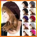 10x  Fashion Women Lady Winter Warm Knitted Crochet Slouch Baggy Beret Beanie Hat Cap  Y1