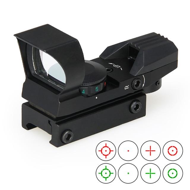 PPT 4 Retículo Mira Reflex Tactical Holographic Visão Mini Red Dot Ponto Verde Dot Sight Scope Para Caça Tiro GZ2-0095