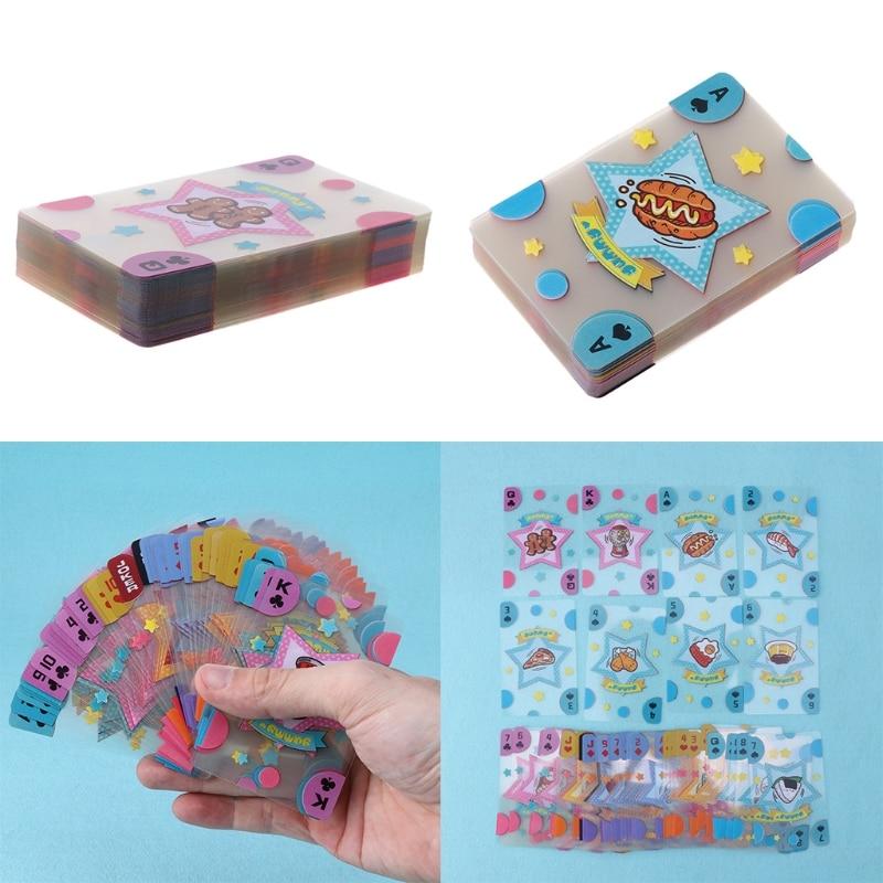 Plastic Playing Cards Transparent Crystal Poker Cartoon Food