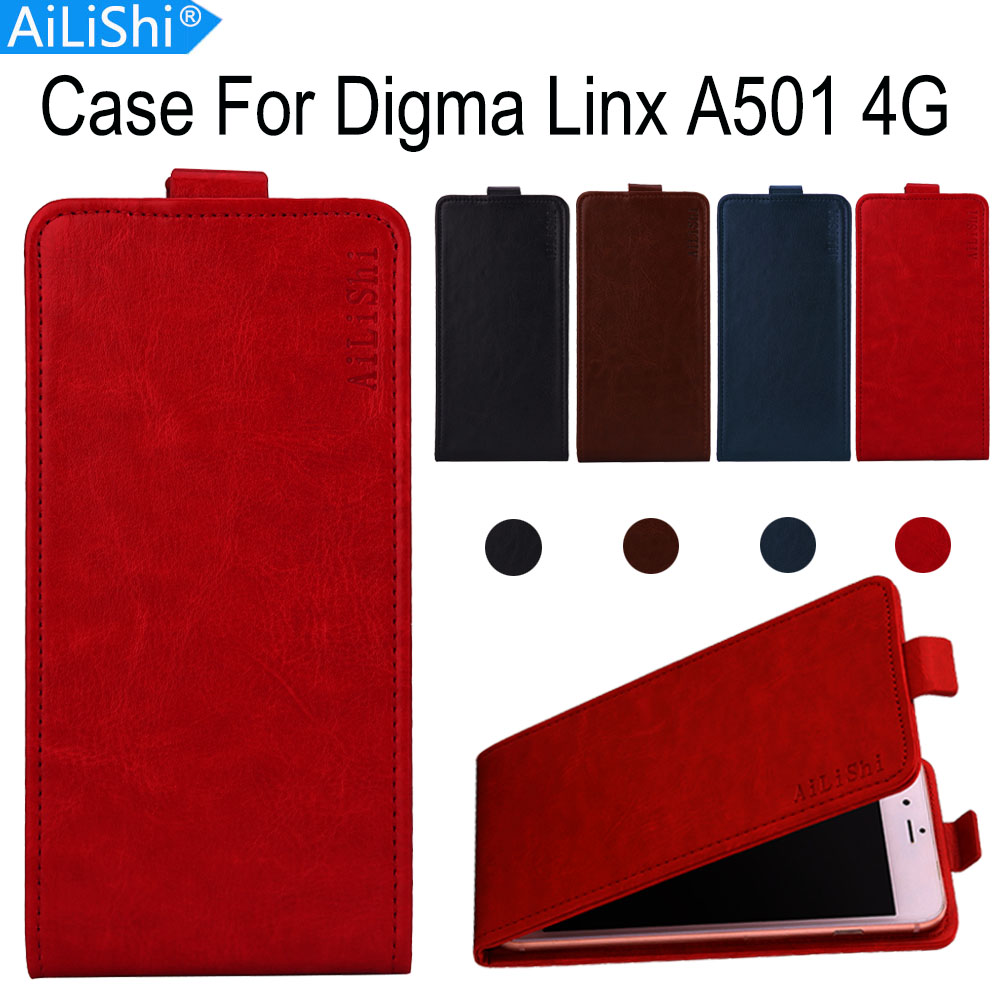 AiLiShi Factory Direct! Case For <font><b>Digma</b></font> <font><b>Linx</b></font> <font><b>A501</b></font> 4G Luxury Flip PU Leather Case Exclusive 100% Special Phone Cover Skin+Tracking image
