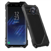 Galaxy S8 Case Powerful Luxury Doom Metal Armor Shock proof Aluminum Coque Case For Samsung S8 S8 Plus MIcro Fisheyes wide lens