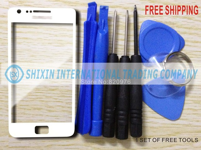 Quality good Original Outer LCD Touch Top Glass Screen Lens Replacement for Samsung Galaxy S2 i9100 9100 + Open Tools
