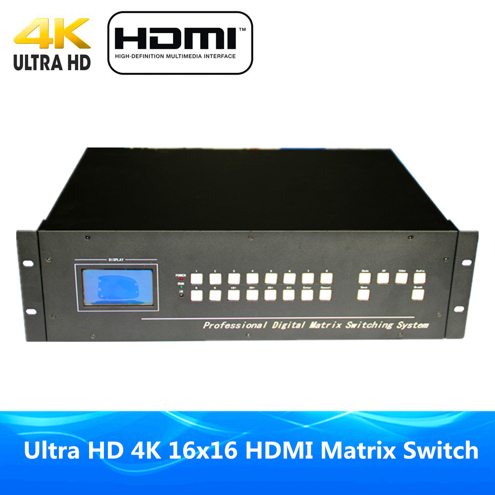DHL Free Shipping Ultra 4Kx2K 16x16 HDMI Matrix Switcher ProAV Premium Quality 16 In 16 Out HDMI Matrix By Intelligent Control rs 4 in 1 4 in 1 toner cartridge chip resetter for samsung free shipping by dhl