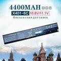 4400 mah nueva batería del ordenador portátil para asus a31-x401 a32-x401 a41-x401 a42-x401 f401 f501 f301 s401 s501 s301 x401a x301 x501