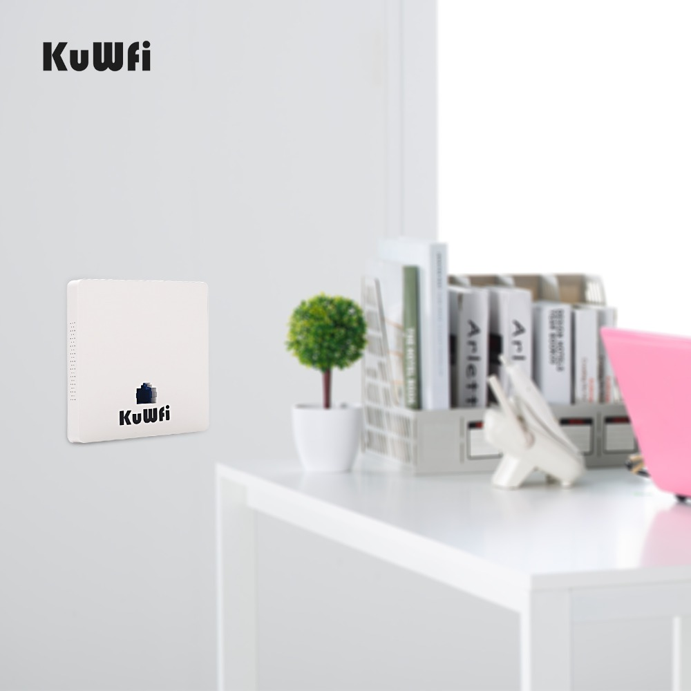 Image 3 - KuWFi 300Mbps Wireless Wifi Router Indoor In wall POE AP Router for Hotel/Dormitory/Hospital/Villa Support 20users-in Wireless Routers from Computer & Office