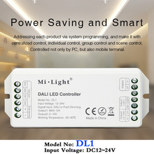 MiBOXER DL1 DALI LED Controller DC12~24V Input Signal DALI Dimming Signal/Push dimming;Max 12A; Single color led strip dimmer dali signal led dimmer 350ma fluorescent constant current high voltage ac110 240 led dali dimming controller
