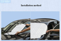HOT Car Styling High quality Foldable Car Windshield Sun Shade for Honda fit accord crv civic 2006 2012 jazz city Accessories