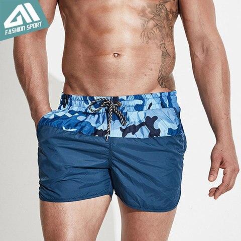 Calções de Bordo Praia dos Homens Calções de Natação Retalhos Camuflagem Surf Atlético Esporte Correndo Ginásio Masculino Shorts Dt78
