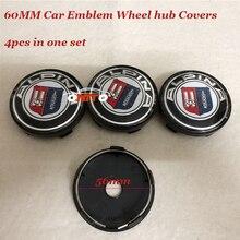 4pcs/lot 60mm Car covers car emblem Rims badge wheel hub center caps 56mm Alpina logo Stickers badge ABS/Chrome For BMW label