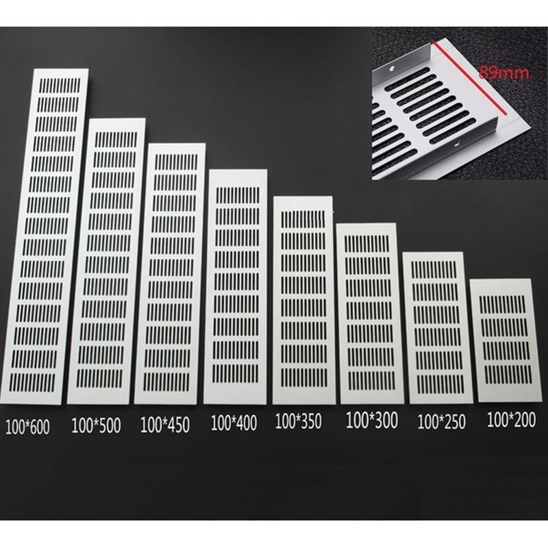 4Pcs/Lot 100MM Width Aluminum Air Vent Ventilator Grille For Closet Shoe Cabinet Air Conditioner Grille
